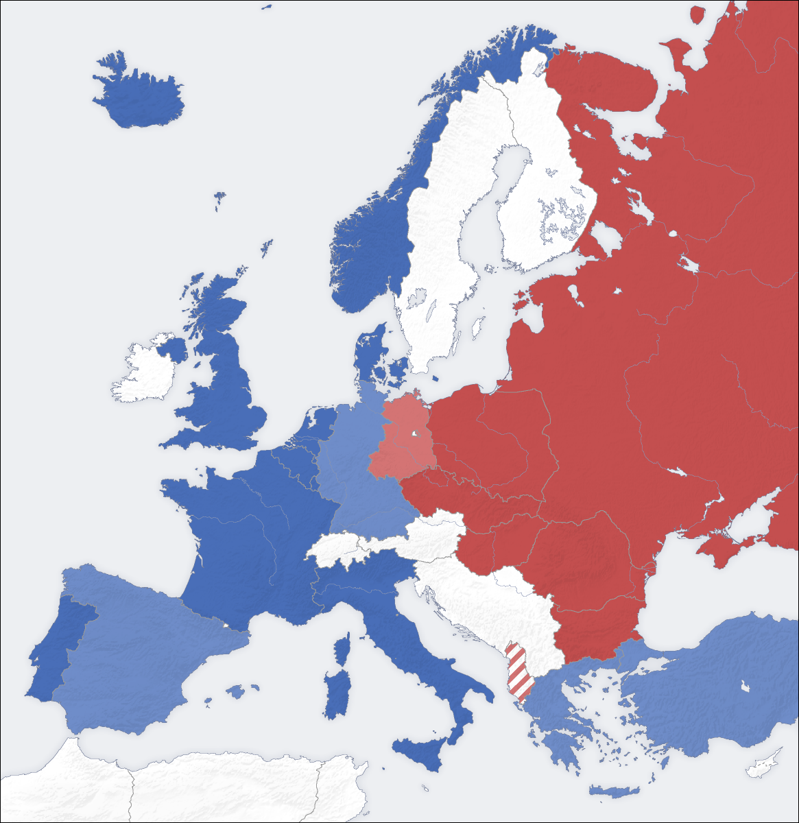 Map Of Europe 1950s.The Cold War Causes Major Events And How It Ended History