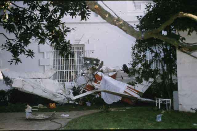 Frank Eugene Corder Crashing His Cesna Into White House Grounds