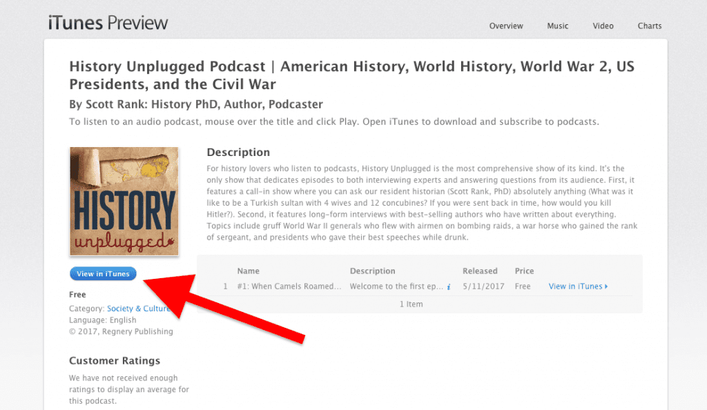 Subscribe to the History Unplugged Podcast - History