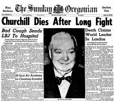 Winston Churchill's Death: January 24, 1964