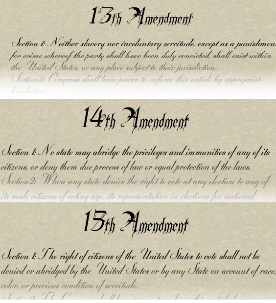 the civil war amendments history. Black Bedroom Furniture Sets. Home Design Ideas