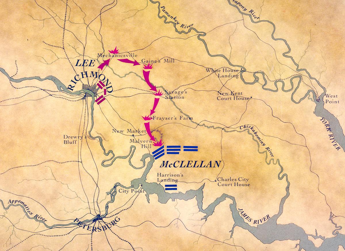 Key Battles Of The Civil War History - Us-map-civil-war-era