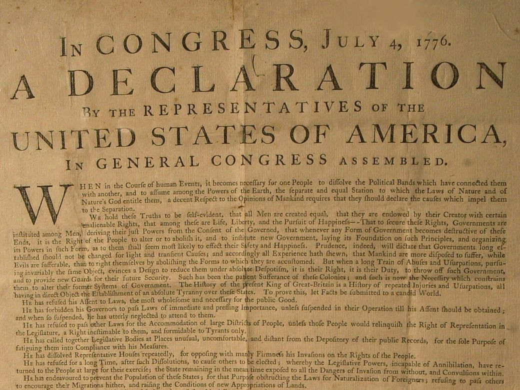 declaration of independence summary