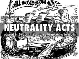 Neutrality Acts Definition