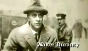 Walter Duranty New York Times