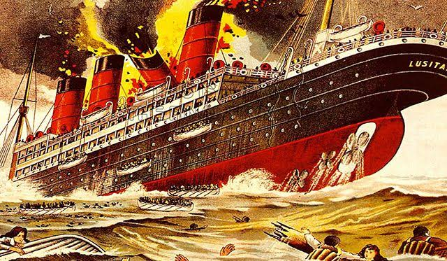 Where did the Lusitania Sink